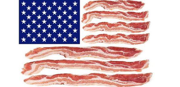 Patriotic bacon lovers, unite!