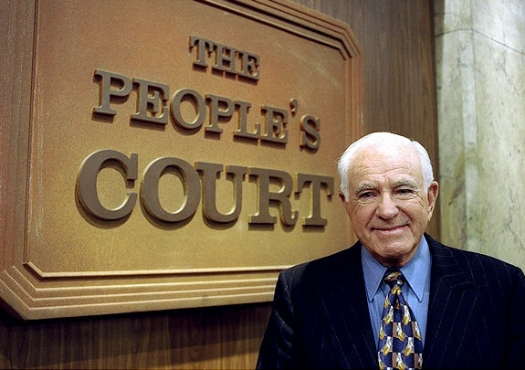Judge Wapner and The People's Court. Don't take the law into your own hands. You take 'em to court! Judge Wapner is still alive age 93.