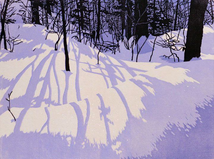 Blue Dusk, linocut print by William Hays - Check out more of his work by clicking through to his website. S