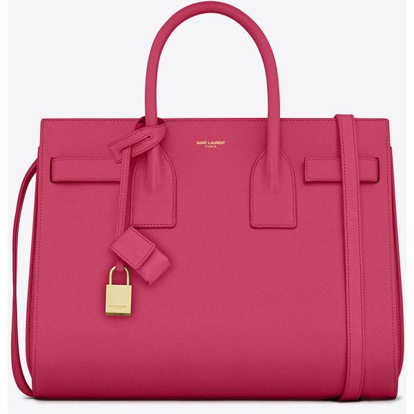 Saint Laurent Classic Small Sac De Jour Bag In Lipstick Pink Leather ($2,750) ❤…