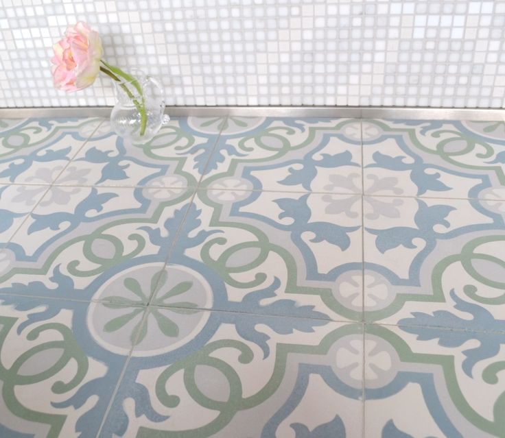 sabine hill cement encaustic tile bathroom tile los angeles by filmore clark
