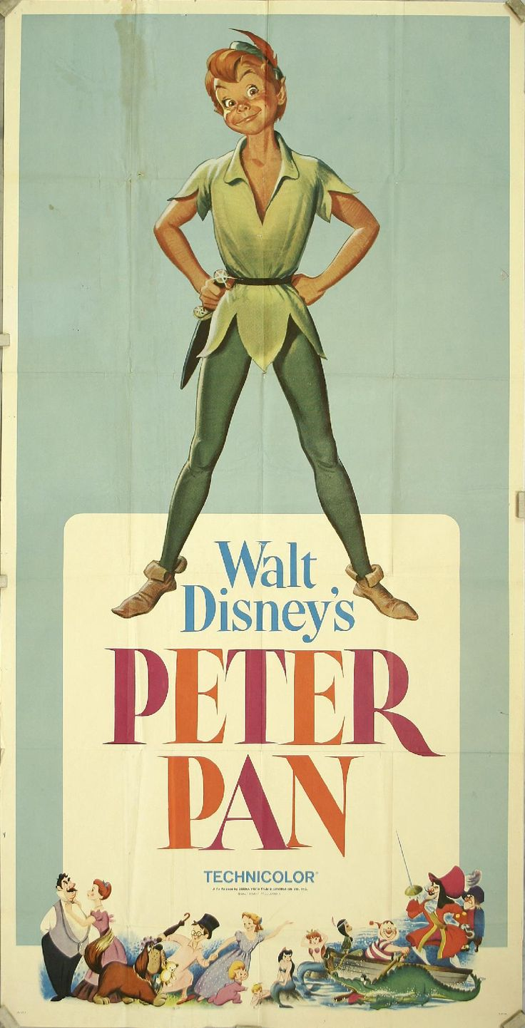 Vintage Poster of Peter Pan, 1953 - ...Always gonna be my favorite. ♥ #waltdisney #jamesmatthewbarrie