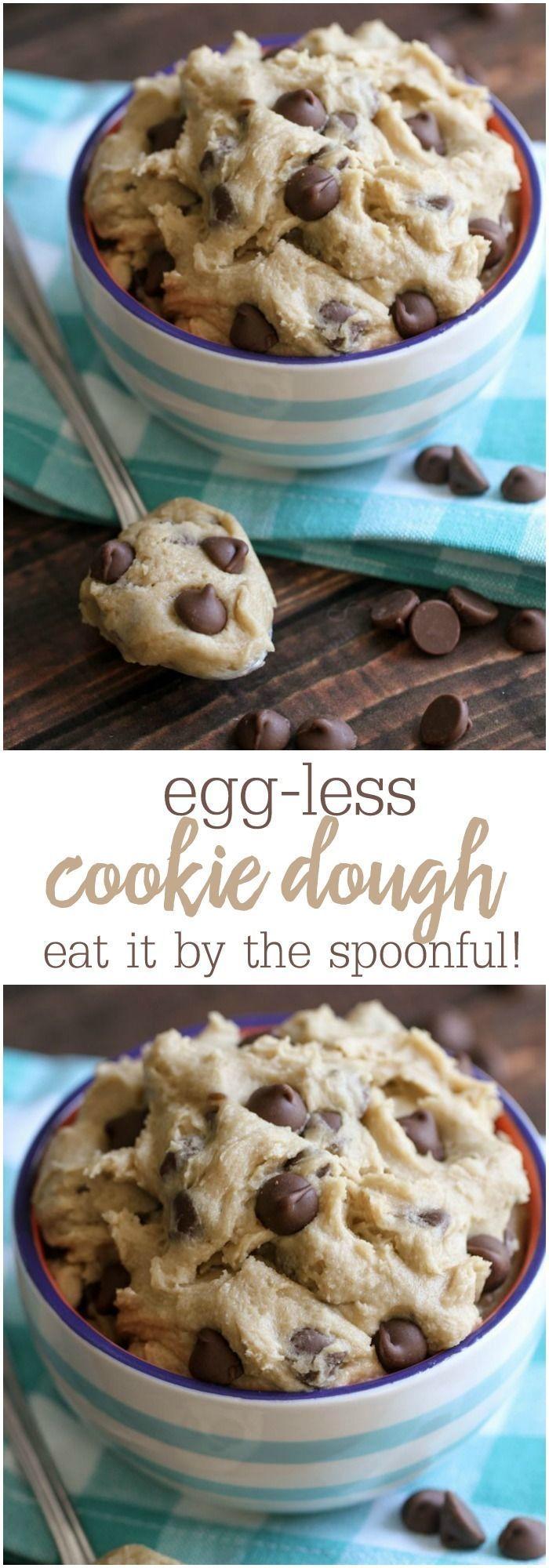 Grab a Spoon!! Egg-less Cookie Dough recipe for all the cookie dough lovers! { http://lilluna.com }