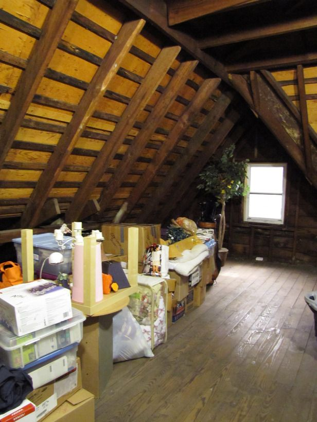 Before-and-After Makeovers: Mudrooms, Laundry Rooms, Basements and More: This sweltering attic definitely serves its purpose as a storage space. However, the homeowners would like to finish the 400-square-foot space and turn it into an engaging and vibrant bonus room with a full bathroom, study and plenty of storage solutions. First, the entire room needs proper insulation, new flooring and drywall to cover the existing wood rafters. From DIYnetwork.com