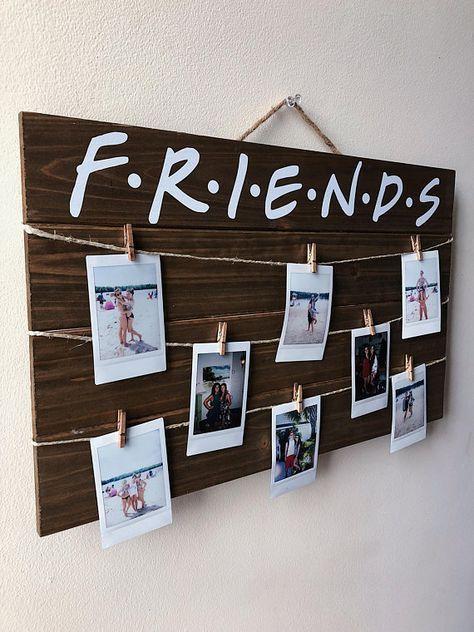 Friends TV Show Wood Polaroid Sign