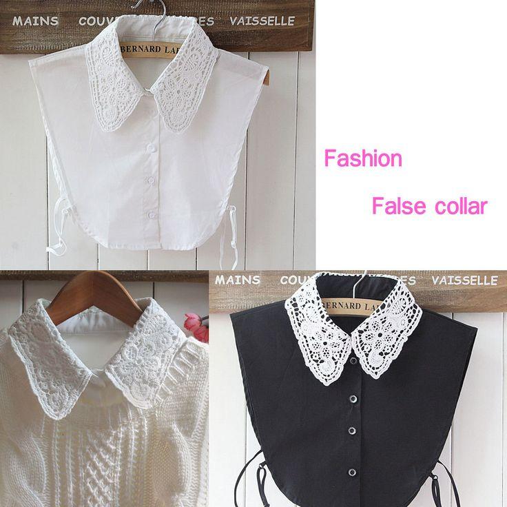 2015 new fashion faux col chemisier blanc et noir cols amovibles femmes chemise pull faux col. Black Bedroom Furniture Sets. Home Design Ideas