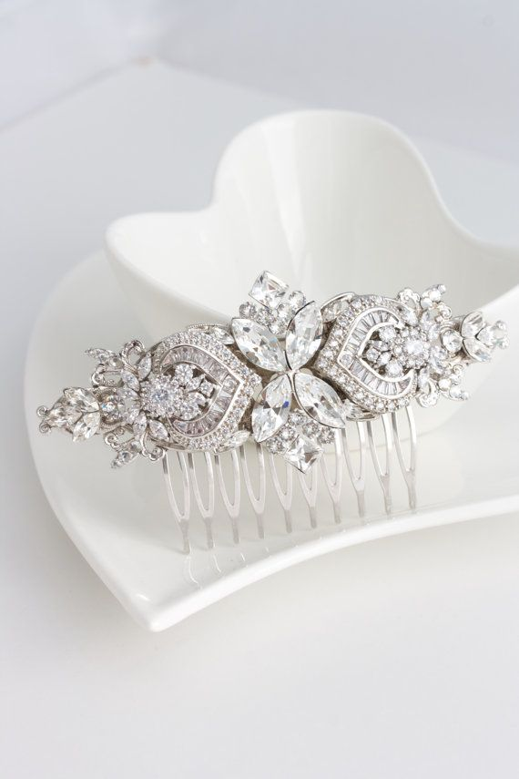 Bridal Comb Crystal Hair Comb Rhinestone Headpiece by LuluSplendor