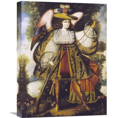 """Global Gallery Arcangel Con Arcabuz Painting Print on Wrapped Canvas Size: 30"""" H x 22.69"""" W x 1.5"""" D"""