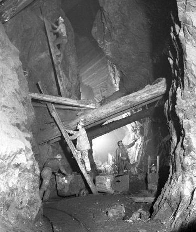 English-Mines Mining in Cornwall was dangerous work, so many believed their lives depended of fairies known as Knockers