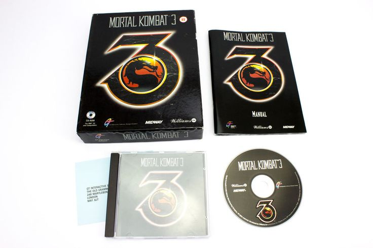 Mortal Kombat 3 by Midway Games 1995 - PC CD-ROM - 15+ - Arcade Fighting