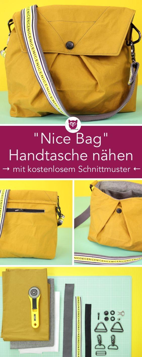 [Werbung] #NiceBag : Handtasche nähen mit kostenl…
