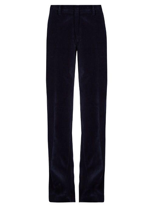 Stella Jean Ascoltare wide-leg velvet trousers