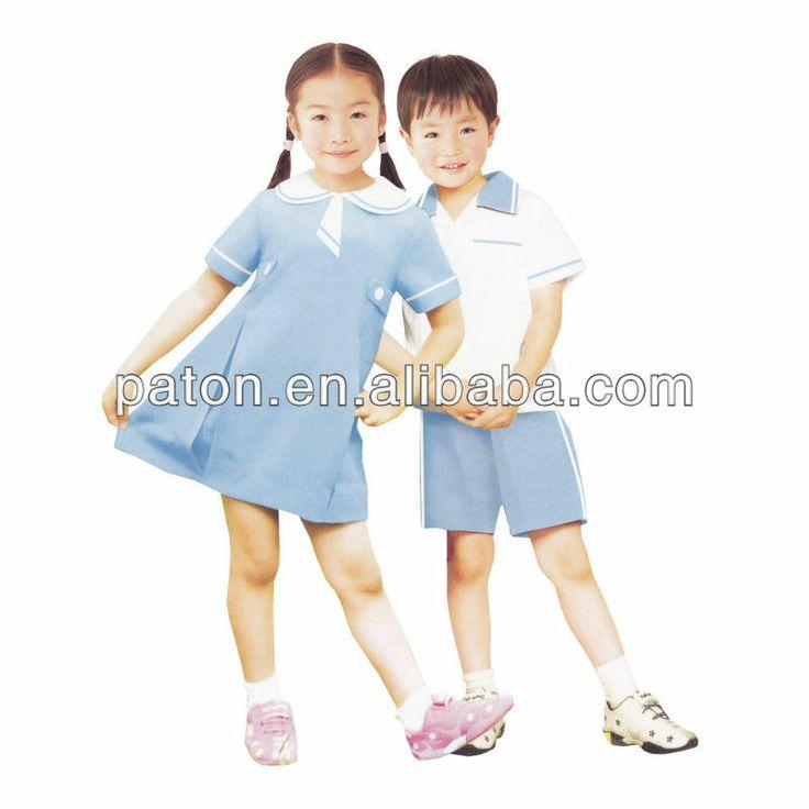 cheap school uniform design, school clothes,free size ,kids school uniforms $6~$9