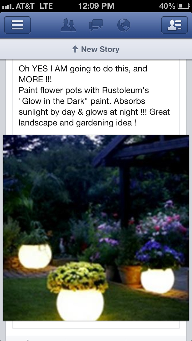 Glow In The Dark Flower Pots Fam Pinterest