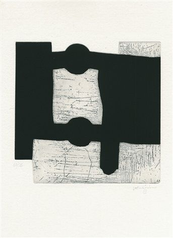 Eduardo Chillida (1924-2002), from Aromas (book including nine prints), 2000. Etching and aquatint on Eskulan wove paper. 53.5cm H x 42.5cm W. Edition of 120 copies.