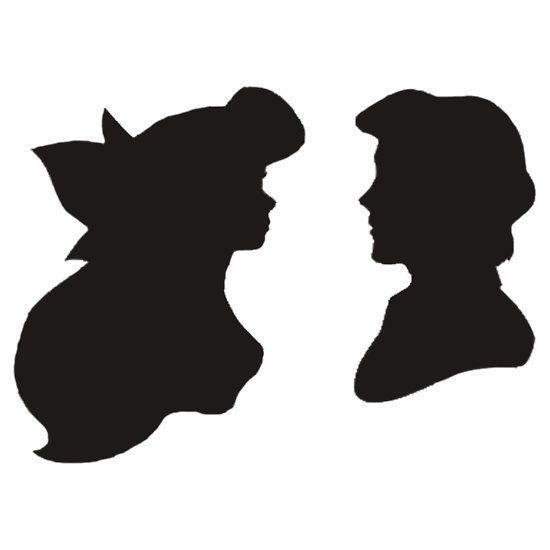 Little mermaid silhouette, Mermaid silhouette and Little mermaids ...