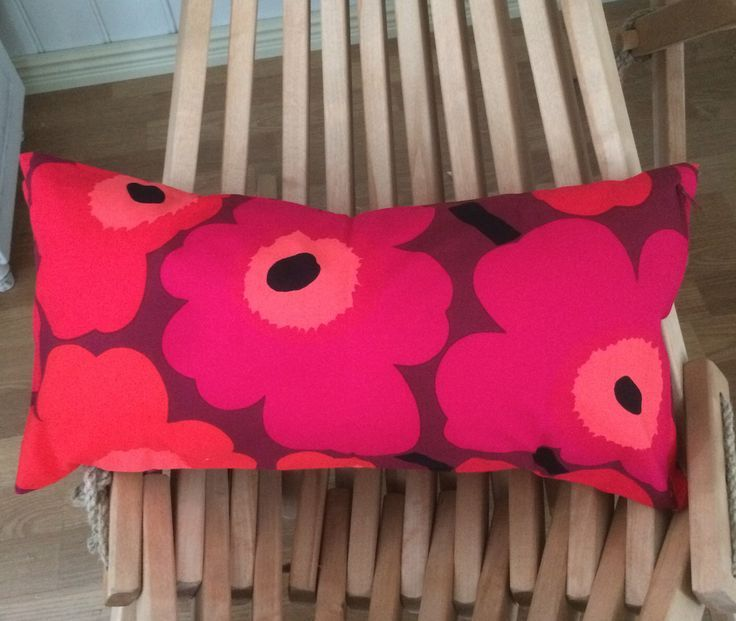 Red on brown Unikko pillow cushion case, 30x60cm, …