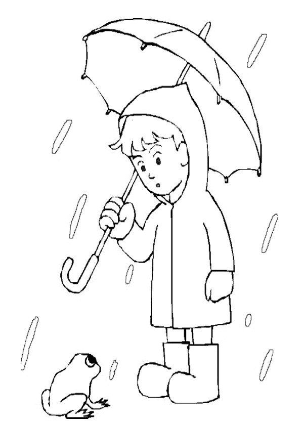 Rainy Day Coloring Sheets Coloring Pages Umbrella Coloring Page Coloring Pages Snowman Coloring Pages