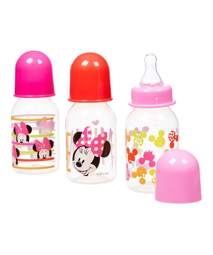 Another great find on #zulily! Disney Minnie 5-Oz. Bottle - Set of Three by Disney Baby #zulilyfinds