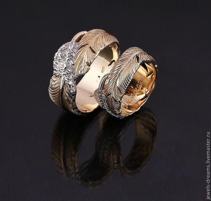 """Купить Обручальное кольцо """"Лебединое"""" - золотой, обручальные кольца, обручальное кольцо, золотое кольцо"""