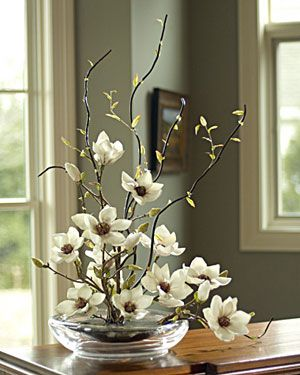 Orchid tree centerpiece think this would be fab on my - Flowers for dining room table ...