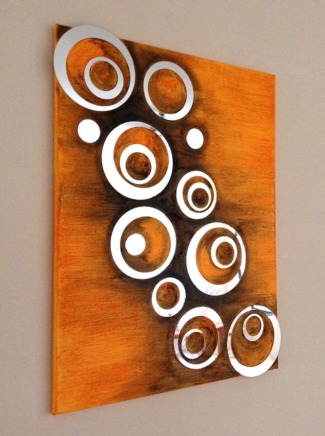 Mirror Art Created Using Acrylic Mirrors And Painted