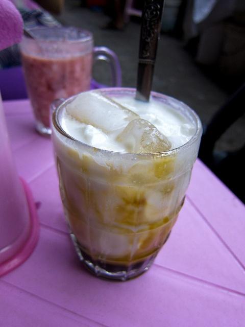 """Yoghurt with Palm Sugar (Burmese: Dain Jin Tinyet Yeh Neq, lit: """"Yoghurt mixed with palm sugar"""")"""