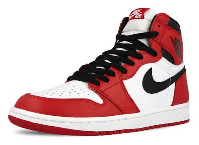 Nike Air Jordan Retro 1 High OG White Red Black Chicago Bulls 555088-101 Classic #Nike #BasketballShoes