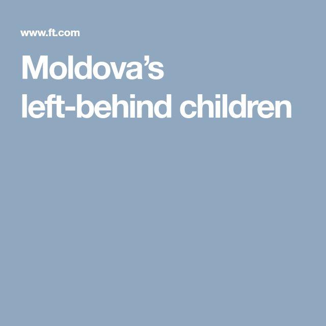 Moldova's left-behind children
