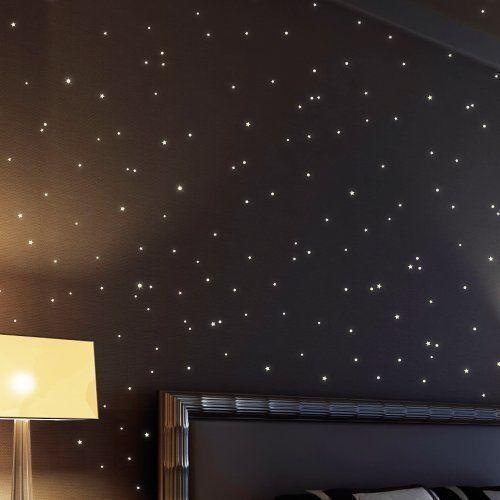Wandtattoo: 350 fluoreszierende Leuchtpunkte für Sternenhimmel (bestehend aus 150 leuchtenden Sternen + 200 Punkten) - selbstklebende wandsticker, ideal für Kinderzimmer und Schlafzimmer!: Amazon.de: Küche & Haushalt