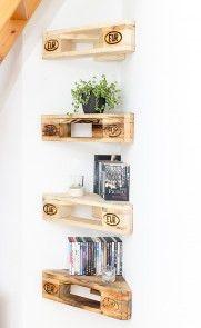 Wandregale – 4er Set Eckregal aus Palettenholz – Nach Wahl – ein Designerstück von HolzkistenAltesLand bei DaWanda