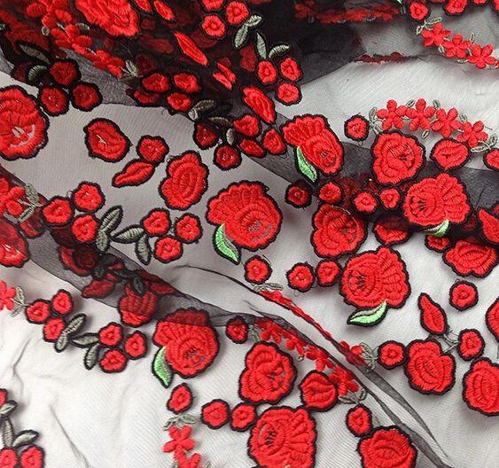 Spitze - Blumen, Stoff Breite 120cm / Hof - ein Designerstück von LucyWang bei…