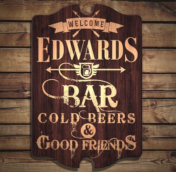 Home Bar Starter Kit pub shed mancave personalised bar signs gift xmas free P/&P