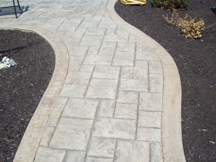 Stamped Concrete Walkway Ashlar Slate Pattern Colors
