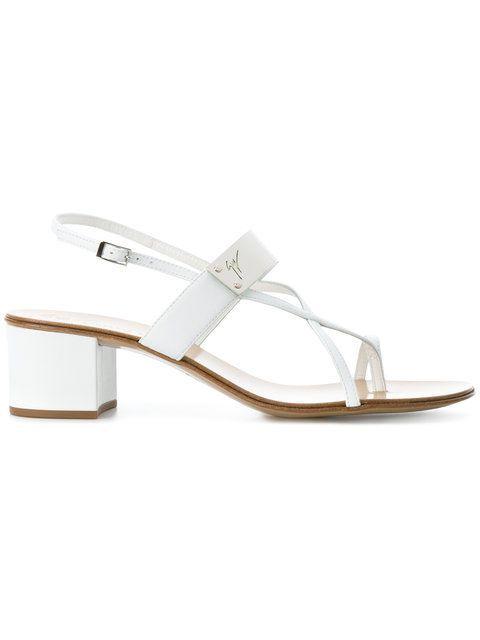 04c304c3e7265 Shop Giuseppe Zanotti Design cross strap sandals.