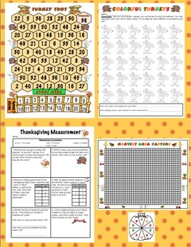 Thanksgiving Math - Keep your students engaged and Common Core focused with these super fun math activites! $