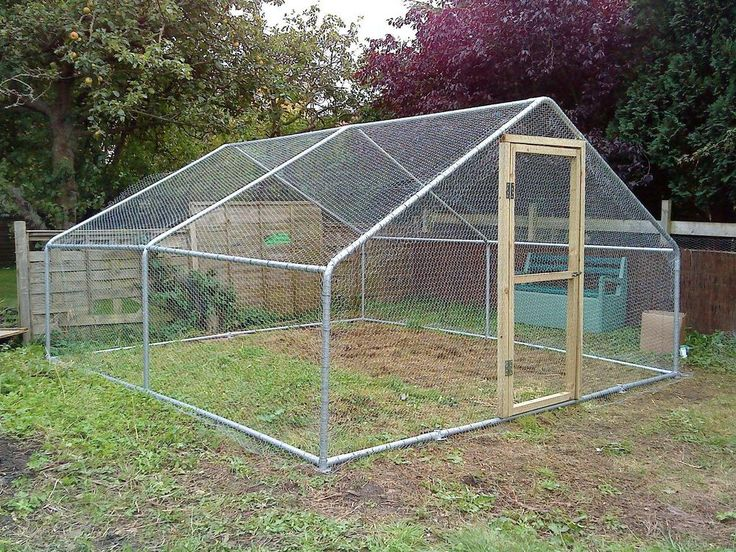 Chicken run 4m x 4m 13ft x 13ft large walk in coop for Chicken enclosure ideas