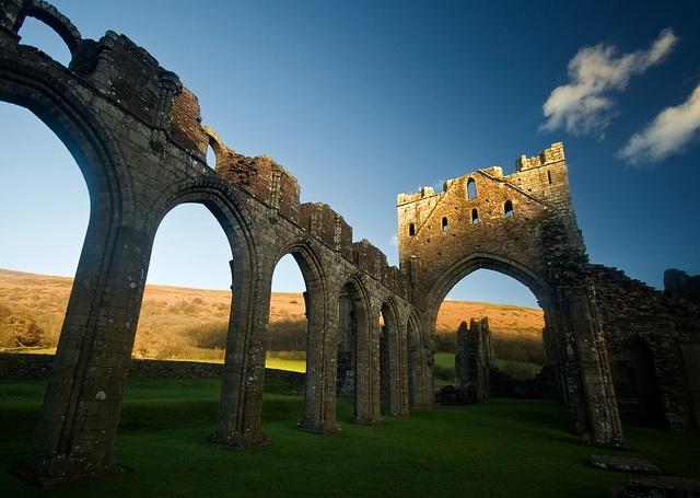 Llanthony Priory by flash of light, via Flickr