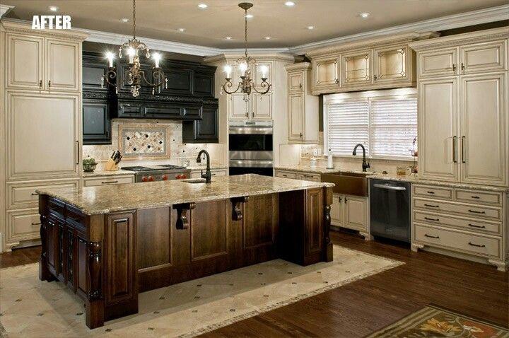 Wooden Den Cabinets ~ Best ideas about cream kitchen designs on pinterest