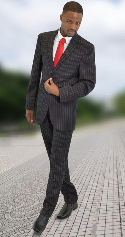 Mini Matt stripe charcoal suit - Phillip pants and Peter Jacket.