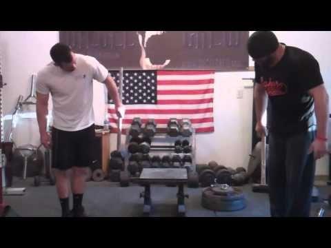 Forearm Training for Mass | Build Big Forearms | Sledge Finger Walks - YouTube