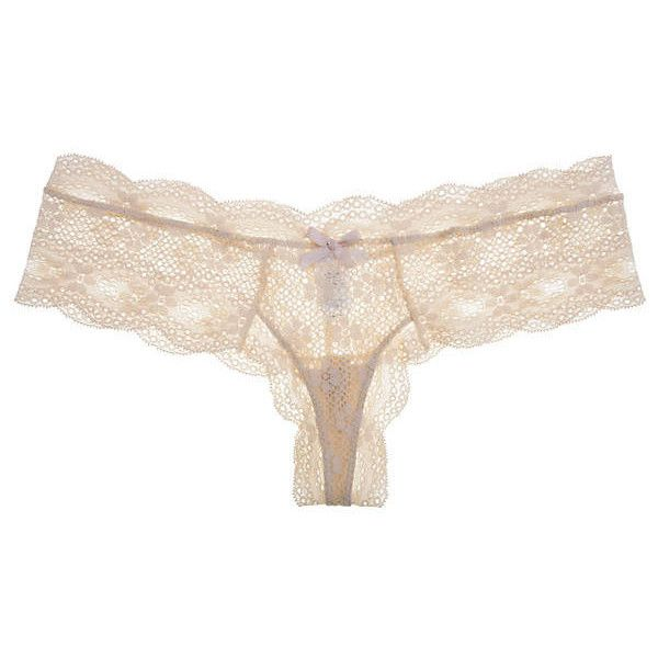 Eberjey India Lace Low-Rise Boythong ($36) ❤ liked on Polyvore featuring intimates, panties, lingerie, underwear, bare, lace lingerie, underwear thong, low rise thong, underwear lingerie and eberjey