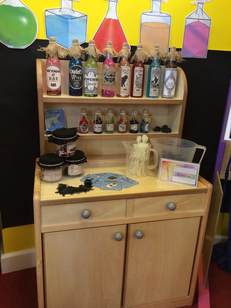My homemade Halloween potions, made for my potions lab in my classroom role play area #eyfs
