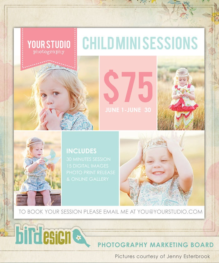 photography marketing board newsletter template e497 1