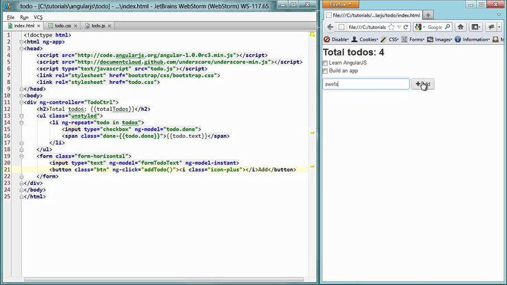 Nice Getting Started Angular.js video