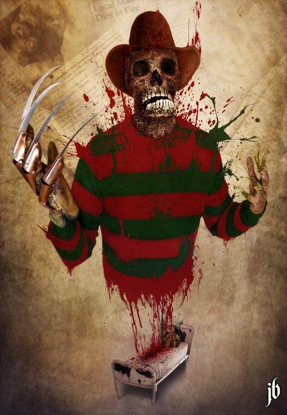 Freddy Krueger 11x17 A Nightmare on Elm Street by JohnBranhamArt, $10.00