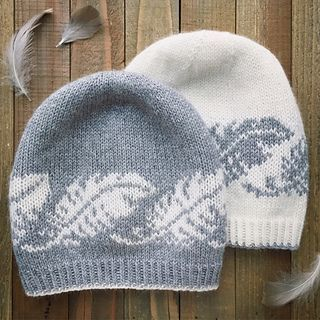 Featherlight Beanie pattern by Erica Heusser