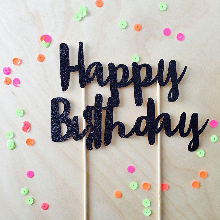 Happy Birthday cake topper | 4 colours / Piccolo Studio