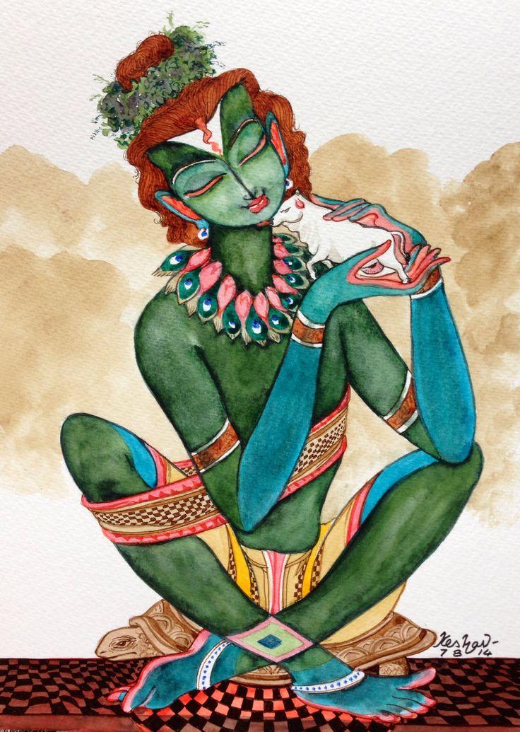Vatsalyam series. #krishnafortoday I love this one. Gonna paint it someday