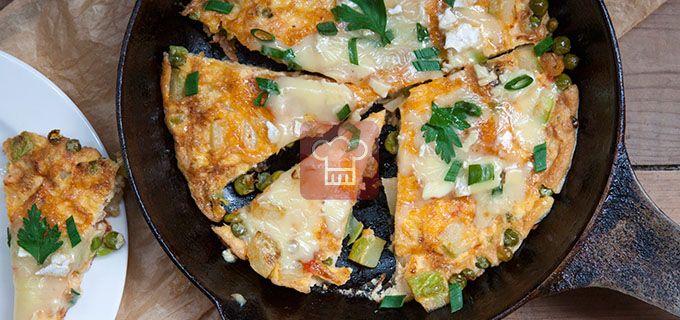 Летний омлет с мягким сыром    Кулинарный журнал Stay Delicious